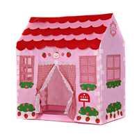 Playhouse chica Ciudad casa niños jardín secreto carpa Rosa juego gran regalo