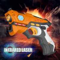 4 piezas láser infrarrojo Etiqueta de rayos láser paquete batalla de Venta caliente arma para niños adultos familia actividades deportivas de juguete de regalo