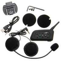 Casco de la motocicleta 1000 M BT Interphone Bluetooth auricular intercomunicador 6 jinetes