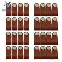32x armario nórdico manija de la puerta suave de la puerta de la PU manijas de la puerta para el cajón del armario tiradores de Hardware de los muebles
