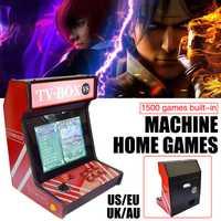 Clásico juego de 9 individuales Mini casa americano Arcade marco LCD todo-en-uno juego de 1500 en una envío de la gota de boxeo TV caja de juego