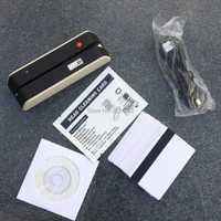 MSR X6 lecteur de carte à bande magnétique alimenté par USB encodeur LoCo HiCo 3 cartes à bande magnétique compatibles avec MSR605 MSR X6 BT