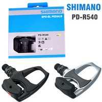 SHIMANO R540 carretera pedales de bicicleta SPD-SL de auto-bloqueo SPD pedales componentes utilizando para bicicleta de carreras PK de R550 pedales