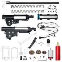 Actualización de Nylon de la caja de cambios Kits para JinMing M4A1 Gen 8 cicatriz V2 Gel Bola de limpieza Gu n accesorios de repuesto con 460 motor