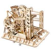 Robotime Bricolage Ascenseur Coaster Magique Creative Marble Run Jeu En Bois Modèle Kits de Construction Assemblée Jouet Cadeau Pour Enfants Adulte Lg503