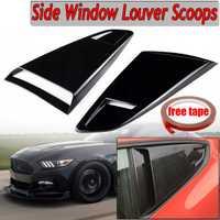 Un par de coche ventana lateral cuarto trasero de rejilla lado ventilación redondo recorte cubierta para 2015-2017 para Ford para mustang 2 puerta Coupe modelo
