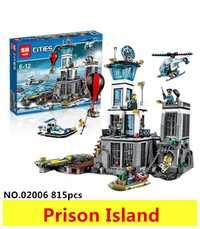 Modèles jouet de construction Compatible avec lego City Series 60130 815 pièces blocs de construction l'île de la Prison jouets et loisirs cadeau