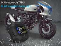 Motocicleta Tpms vehículo control de presión de neumáticos impermeable Monitor de neumáticos sistema de protección solar M3 TPMS dos sensores Tpms interiores