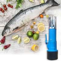 Removedor de pescado automático eléctrico recargable de mano herramienta de cocina a prueba de agua rascador para limpiar 100-250 V Enchufe europeo y EE. UU. macho