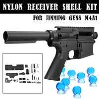 Kit de carcasa de nailon negro para JinMing 8th M4A1 juego de bolas de Gel de agua