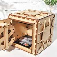 Creativo DIY 3D ensamblaje juguete de rompecabezas de madera innovadora cerradura caja del Tesoro transmisión mecánica romántico regalo del Día de San Valentín