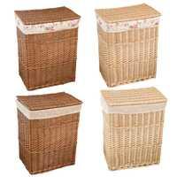 Ropa sucia de gran capacidad de almacenamiento cesta con tapa mimbre Natural de lavandería de malla cesta Caja impermeable bolsa Simple literaria