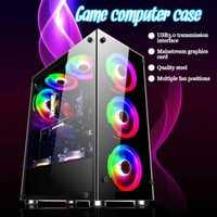Gamer refroidissement ordinateur de bureau boîtier central 350x290x410mm pour ATX/m-atx/mini-itx Support de carte mère 8 ventilateurs