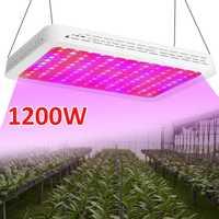 LED crece la luz 1200 W lleno espectro UV IR 120 LEDS planta hidropónica verduras crecer luz interior fruta de efecto invernadero de flores lámpara crecer