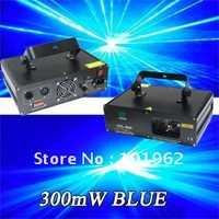 Equipos de dj 300 MW 405 nm azul disco láser iluminación