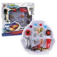 Beybladein explosión 4D Conjunto de 4 piezas con lanzador de Arena de la Bahía de hoja de Metal lucha batalla fusión clásico juguetes para los niños