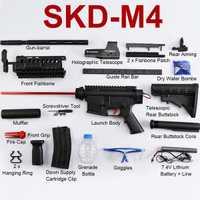 Bricolaje Nylon SKD M4SS Gel bola Blasters tirador de agua eléctrica armas de juguete al aire libre CS