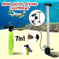 Equipo de Buceo Mini buceo de aire de oxígeno bomba de tanque de cilindro regulador de accesorios de buceo bajo el agua dispositivo de respiración