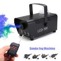 Machine sans fil de fumée de la LED 500 W de contrôle de tache/Machine de brouillard de LED de couleur de rvb/brumisateur professionnel avec des lumières de LED/éjecteur de fumée