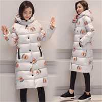 Chaqueta de invierno de las mujeres con tapa Slim Abrigos Mujer caliente gruesa Parka abrigo suave bio acolchado Regular largo abrigo de algodón
