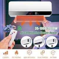 220 V 2000 W montado en la pared de Control remoto de Casa de ahorro de energía de calefacción baño caliente de aire acondicionado calefacción de aire