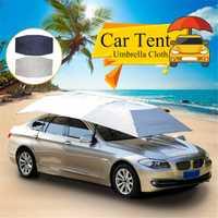 Plegable al aire libre tienda de campaña paraguas sombrilla cubierta de techo de tela automática completa Anti UV impermeable a prueba de viento reemplazable cubierta del coche