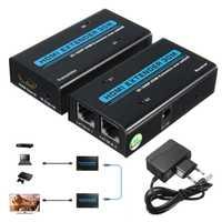 HDMI extensor 1080 P HDMI a RJ45 red única de señal de Cable extensor de CAT5/6 Lan Ethernet transmisor receptor emisor adaptador