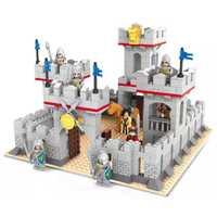 Modèle bloc de construction ensemble compatible avec lego Chevaliers et château cheval 686 pièces 3D Briques Éducatifs Loisirs Jouets pour Enfants