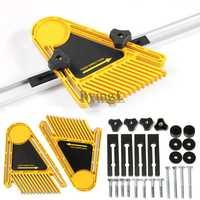 * Herramientas multiusos para trabajar la madera juego de doble pluma sierras de mesa vallas de enrutador para sierra eléctrica herramientas de carpintero DIY