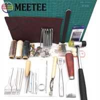 Meetee DIY herramientas de cuero hecho a mano de la herramienta cosida a mano de arte Set 01 entrada-Nivel de coser a mano de conjunto de BD124
