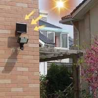 La energía Solar proyector reflector 120LED IP65 impermeable PIR Sensor de movimiento de la lámpara Solar de jardín al aire libre césped camino lámpara de noche