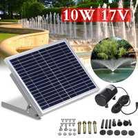 Sistema de bomba de fuente de agua sin escobillas de Panel Solar 17 V 10 W Kit de riego de jardín para varios usos de jardinería