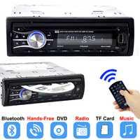 Autoradio reproductor de CD DVD del coche Automotivo 1 Din 12 V Radio Bluetooth de Audio Auto AUX estéreo DVD VCD MP3 TF tarjeta de Radios Para Carro