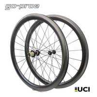 UCI calidad 700c de carbono bicicleta de carretera de la rueda de perfil bajo de la bicicleta de ruedas Tubular Tubeless con NOVATEC tira recta Centro Pilar 1423