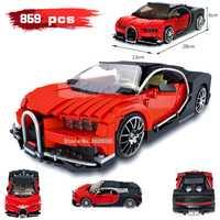 859 piezas galón bloques de construcción rojo brillo coche deportivo serie Compatible legoinglys modelo de ciudad montar juguetes para niños de regalo