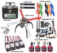 F450 450mm Kit cadre quadrirotor PIXHAWK 2.4.8 commande de vol M8N GPS 30A simoine sans balai ESC 2212 920KV moteur Flysky I6X + X6B