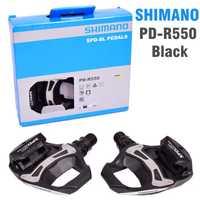 SHIMANO R550 carretera pedales de bicicleta SPD-SL de auto-bloqueo SPD pedales componentes utilizando para bicicleta de carreras PD-R550 PD-R540 pedales