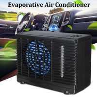12 V 35 W 2 velocidad portátil Mini ventilador de refrigeración del coche del hogar enfriador de agua de hielo evaporativo aire acondicionado del coche para coche Auto camión ventilador