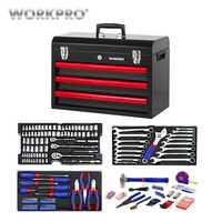 WORKPRO 408 PC conjunto de herramientas de reparación de herramientas de Metal caja de mano herramientas de kit de herramientas