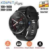Kospet espero 4G Smartwatch Android 7,1 GPS + 3G + 32G/1G + 16G IP67 impermeable reloj teléfono MTK6739 Quad Core 8Mp de la cámara del deporte Cámara reloj de los hombres