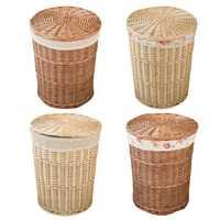 Cesta de Rattan mimbre Natural ropa cesta de almacenamiento de tejido de juguete cubo salón de Decoración de casa de los desechos organizador