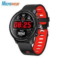 L5 reloj inteligente impermeable de los hombres reloj inteligente Bluetooth Android pulsera recordatorio de llamada de podómetro de natación Ip68