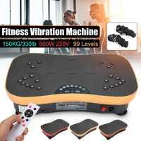220V 500W Vibration Machine exercice plate-forme masseur corps Fitness à distance exercice équipement de fitness