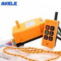 Envío Gratis MKHS-6 PA66 422,4-438 MHz transmisor inalámbrico interruptor de botón de empuje grúa Industrial Control remoto de Makerele