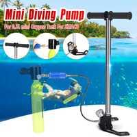 Equipo de Buceo Mini mano operado bomba para 0.5L Mini buceo de oxígeno tanque de aire para SMACO repuestos respirar bajo el agua accesorios
