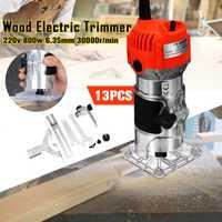 220 V 800 W/110 V 750 W 30000 RPM 1/4 ''Mano Eléctrica cortadora de madera laminador Router para carpinteros levantar mando de corte exacto para madera
