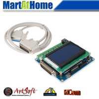 Envío Gratis inteligente de 5 ejes CNC placa de interfaz w/LCD pantalla Digital apoyo Mach3/EMC2/KCAM4 # SM613 @ CF