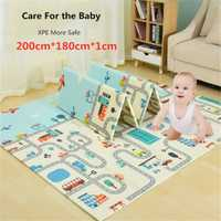 200x180x1 cm bébé tapis de jeu XPE Puzzle enfants tapis épaissir Tapete Infantil bébé ramper Pad bambin pliant tapis soins infirmiers