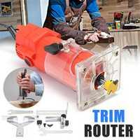 Maquinaria de carpintería recortadora manual 220 V 30000 rpm madera eléctrica laminada Palma enrutador herramienta dispositivo recortadora de bordes grabado