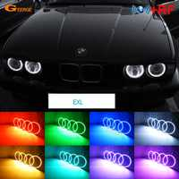 Para BMW E30 E32 E34 excelente RF controlador Bluetooth Multi-Color Ultra brillante LED RGB de Ojos de Ángel anillo de Halo kit de